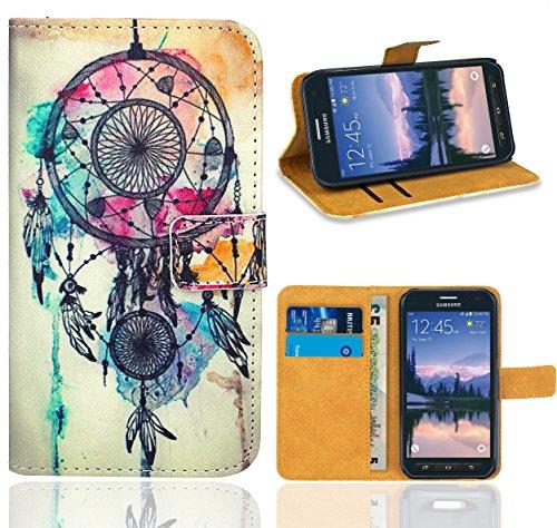 FoneExpert® Samsung Galaxy S6 Active Handy Tasche, Wallet Hülle Flip Cover Hüllen Etui Ledertasche Lederhülle Premium Schutzhülle für Samsung Galaxy S6 Active
