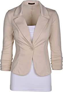 Auliné Collection Women`s Casual Work Solid Color Knit Blazer