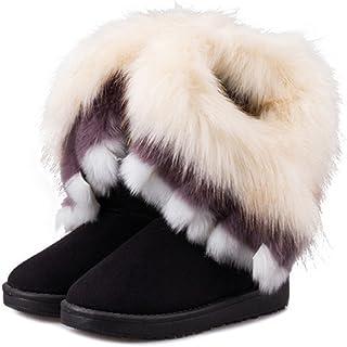 NOT100 The Best Woman Boots(Size 10 is OK) (Warm Fur) (Tassel)
