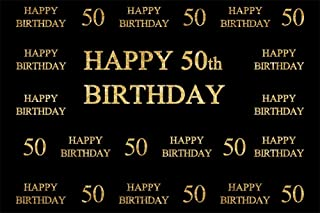 LFEEY 7x5ft Father Mother 50th Birthday Photo Backdrop Custom Adults Men Woman Happy Fift ieth Bday Party Celebration Black Photography Background Wallpaper Photo Studio Props