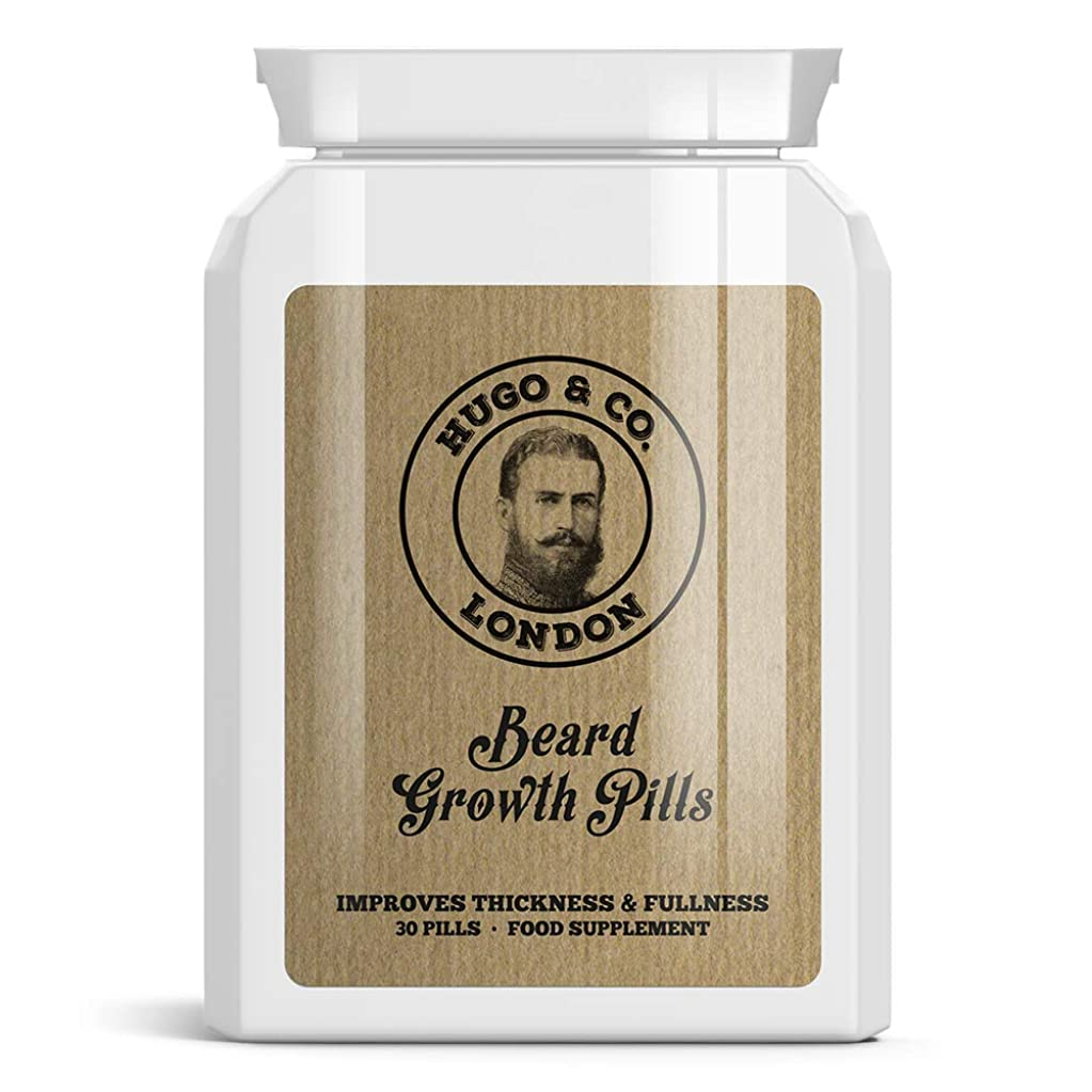 複数のみ節約HUGO & CO LONDON BEARD GROWTH PILLS ロンドンひげの成長丸薬は - パッチ状ビッグシックひげGROW STOPS HUGO& CO Rondon hi-ge no seich? gan'yaku wa - patchi-j? biggushikku hi-ge gur? STOPS