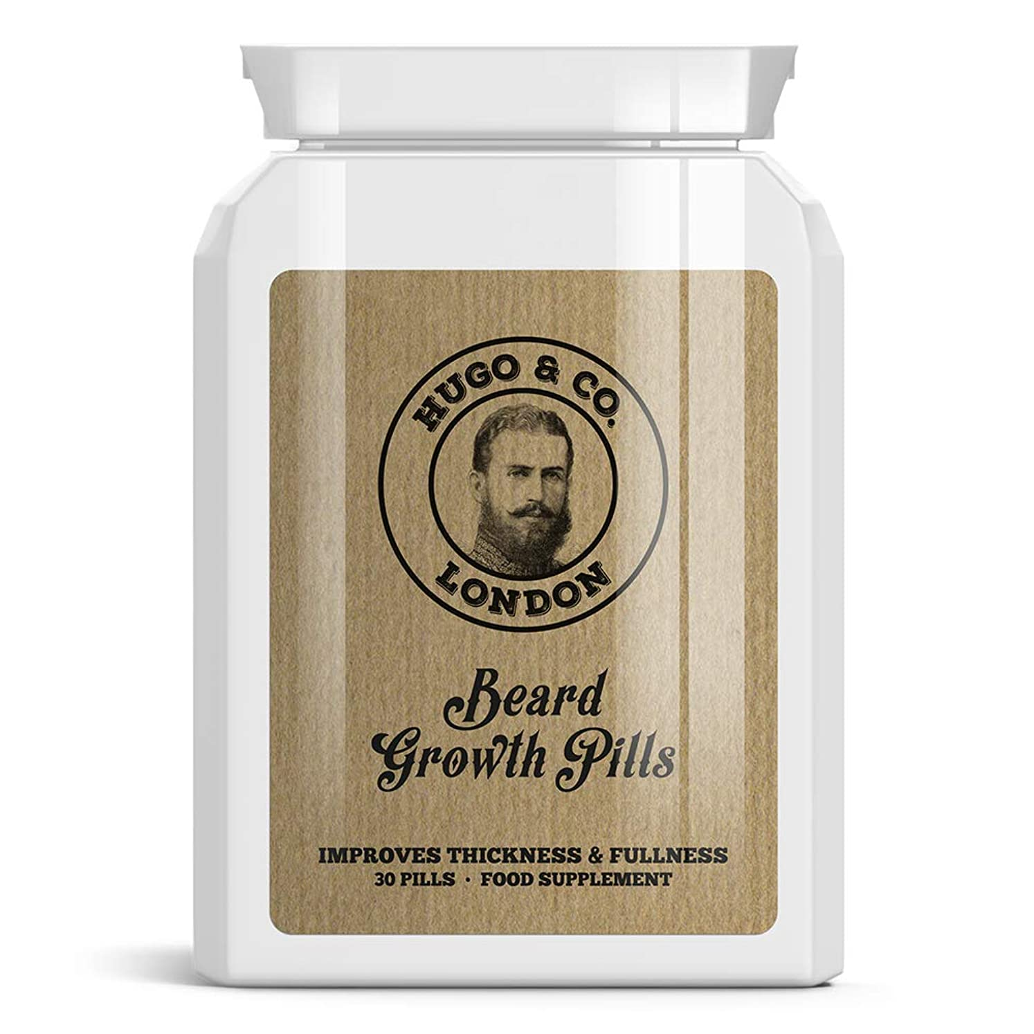 ピュー学習農業のHUGO & CO LONDON BEARD GROWTH PILLS ロンドンひげの成長丸薬は - パッチ状ビッグシックひげGROW STOPS HUGO& CO Rondon hi-ge no seich? gan'yaku wa - patchi-j? biggushikku hi-ge gur? STOPS