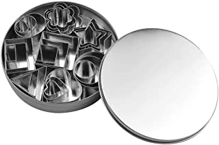 Kissral Cookie Baking Mold Set, DIY Cookie Cutter Mold, Pastry Baking Mold, Stainless Steel Biscuits Cutter Molding for Ma...