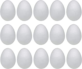 Crafare 6 Inch 9PC White Craft Styrofoam Eggs Smooth for Easter Christmas Holiday Art Crafts Making Handmade DIY Painting School Projects