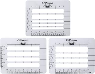 PP OPOUNT 3 Pieces 3 Style Envelope Addressing Guide Stencil Templates Fits Wide Range of Envelopes, Sewing, Thank You Card