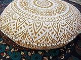 'Traditional Jaipur Bodenkissen in Mandala, Grand Zierkissen, Kissenbezüge rund 32, Ohrpolster...