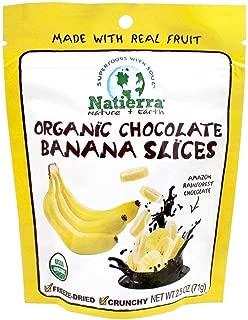 Natierra Nature's Organic Freeze-Dried Chocolate Covered Banana Slices   Gluten Free & Vegan   4 Ounce