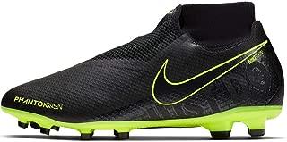 Nike Men's Phantom Vision PRO DF FG Soccer Cleats (Black/Black-Volt) (9 D US)
