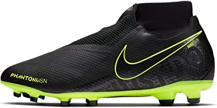 Nike Men's Phantom Vision PRO DF FG Soccer Cleats (Black/Black-Volt) (10 D US)