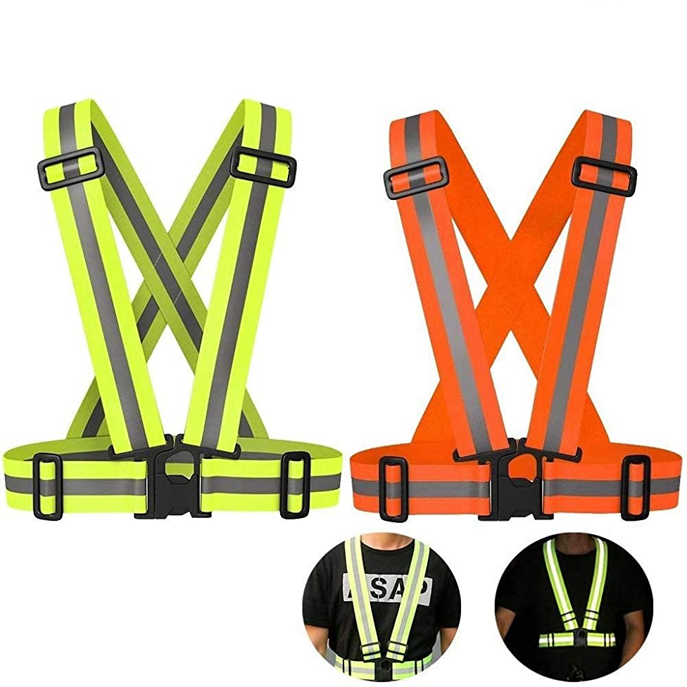 Reflective Night Running Vest with Adjustable Strap & Breathable Holes, Ultrathin Lightweight Safety Vest with 360° High Visibility for Running, Jogging, Cycling, Hiking, Walking, Multicolor Optional k55352679224800