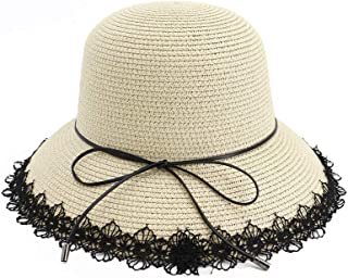 Sun Hat for men and women Fashion Women's Hat Summer Sun Hat Foldable Lace Ribbon Beach Hat Bowknot Hat Holiday Hat