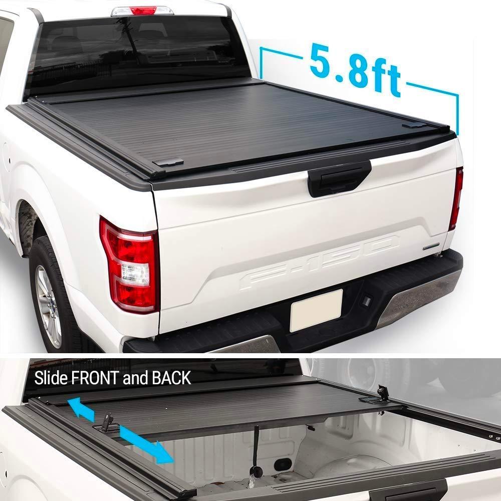 Amazon Com Syneticusa Aluminum Retractable Low Profile Waterproof Tonneau Cover For 2014 2018 Silverado Sierra 1500 5 8 5 8ft Short Truck Bed Cargo Automotive