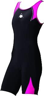 Aqua Sphere Womens Swimmimg Swim One Piece Triathlon Wet Suit Costume - Black