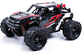 RC Truck, 25MPH High Speed Drift Car, 2.4Ghz Radio Remote Control Control 1/18 Scale 2WD Off Road Monster Truck, Rock Crawler with 2 Rechargeable Batteries, RC Toy Car for Kids & Adults