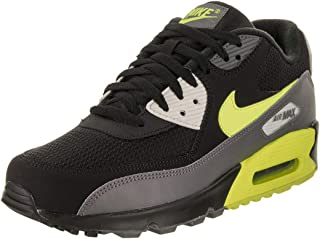 Nike Mens Air Max 90 Essential Running Shoes Dark Grey/Volt/Black/Bone AJ1285-015 Size 13
