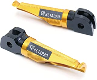 KETABAO For Ducati Carbon/Diavel 11-17 CNC Shinobi Gold Front Footpegs