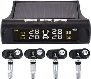 mewmewcat Car TPMS Pneu Pressão dos Pneus Sistema Digital de Monitoramento de Energia Solar Segurança Automática Sistemas ...