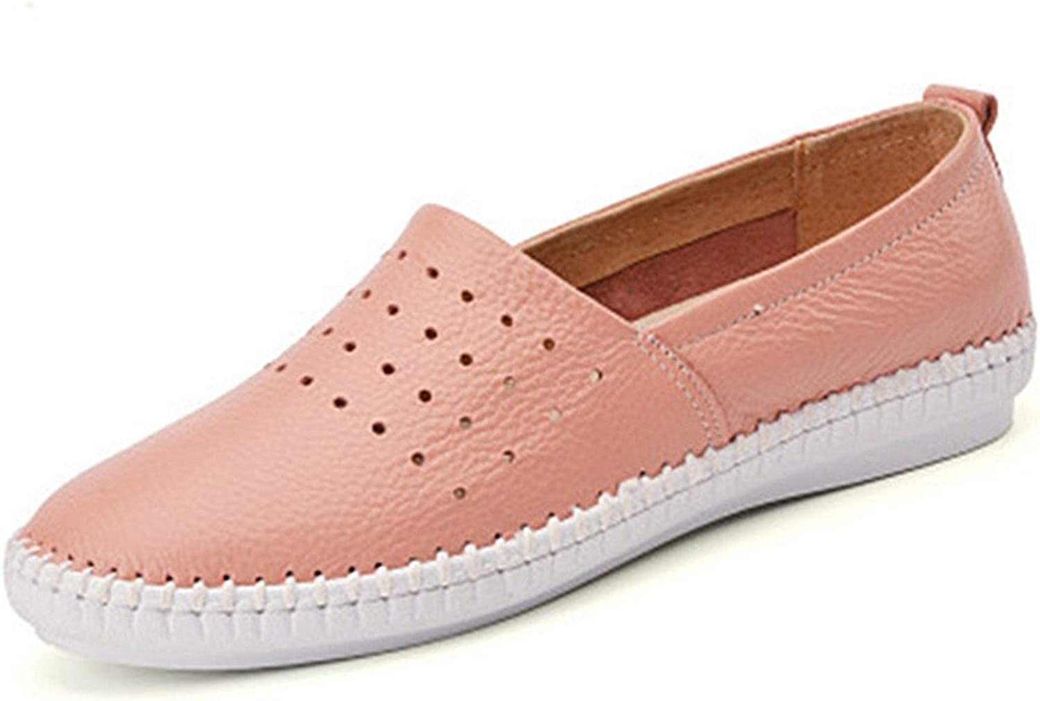 York Zhu Women's Loafers, Hollow Out Slip On Round Toe Flats, Ladies Casual shoes