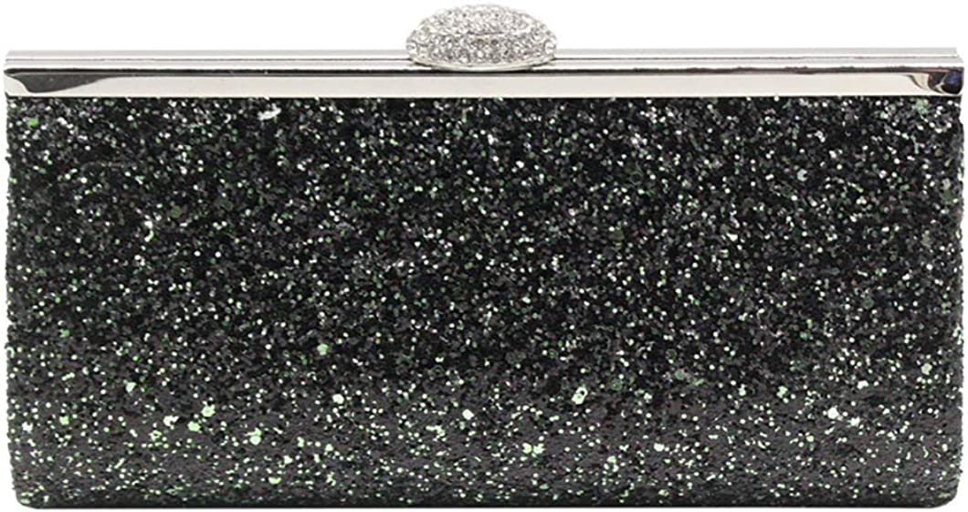 Missfiona Sparkly Glitter Formal Clutch Purse Wedding Party Evening Bag for Women