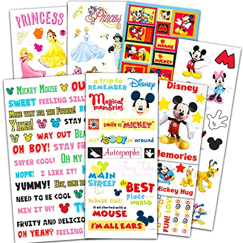 Disney World Vacation Stickers Super Set ~ Bundle Includes 7 Mickey Mouse Sticker Packs (Disney Mickey Mouse Party Supplies, Scrapbook Supplies)