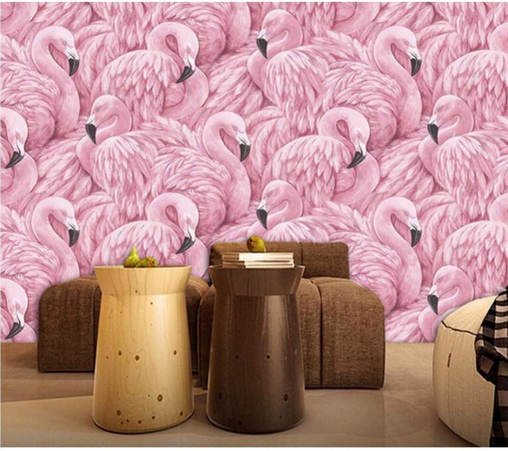 online al mejor precio Flamingos Bird Animal Wallpaper Murales Para La La La Sala De Estar Decoración De La Parojo Del Hogar Moderno Foto Mural Impreso Wallpaper Tamaño Personalizado-200X140CM  sin mínimo