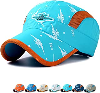Eohak Kids Baseball Hat Quick Drying - Toddler Boy Girl Baseball Hat Airplane Embroidery Mesh Cap Sun Hats Age for 3-12Years Old
