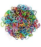 Loom Bands Lot d'élastiques en caoutchouc avec clips en forme de S et crochet Multicolore