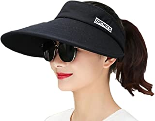 XQS - Sombrero de verano para mujer, protección solar, elegante y ajustable, sombrero para el sol