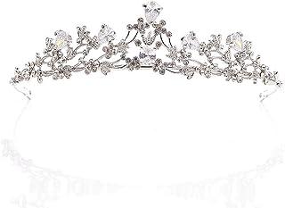 Dongyu Corona, Principessa Strass for Copricapo Gioielli Diadema Accessori for Capelli da Sposa Femminile da Sposa Regina