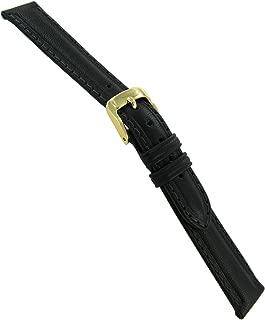 14mm Speidel Water Resistant Mesa Leather Black Watch Band Strap Ladies
