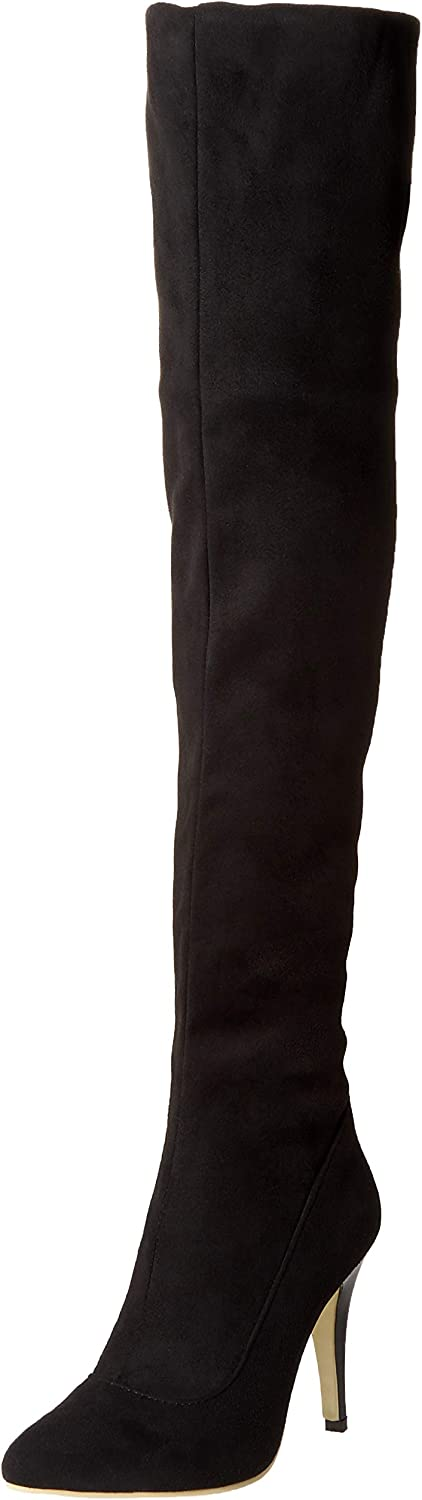 shoes'N Tale Women Over The Knee High Stretchy Leather Thigh high Snow Boots
