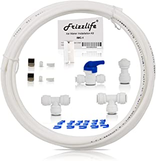 Frizzlife Ice Maker Fridge Water Line Installation Kit Fits For APEC, Express Water, Home Master Reverse Osmosis System