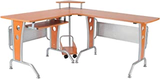 HOMCOM 61 in. Modern L-Shaped Office Workstation Computer Desk