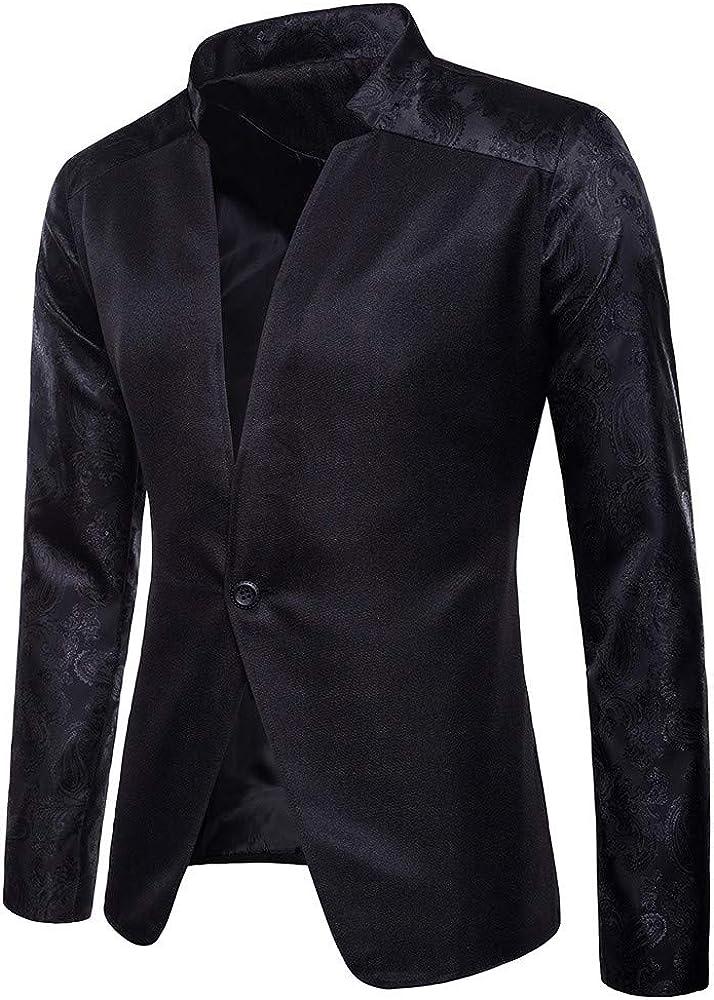 Fashion Charm Casual One Button Fit Suit Blazer Coat Jacket Top Men