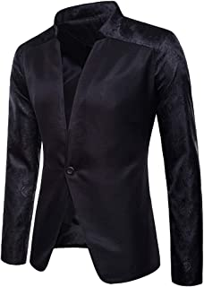 2018 Wintialy Fashion Charm Men's Casual One Button Fit Suit Blazer Coat Jacket Top