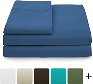 Cosy House Collection Luxury Bamboo Bed Sheet Set - Hypoallergenic Bedding Blend from Natural Bamboo Fiber - Resists Wrinkles - 4 Piece - 1 Fitted Sheet, 1 Flat, 2 Pillowcases - King, Royal Blue