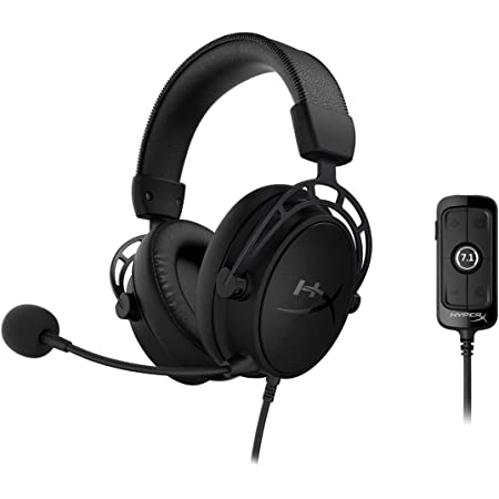 HyperX Cloud Alpha S - PC Gaming Headset, 7.1 Surround Sound, Adjustable Bass, Dual Chamber Drivers, Chat Mixer, Breathable Leatherette, Memory Foam, and Noise Cancelling Microphone – Blackout