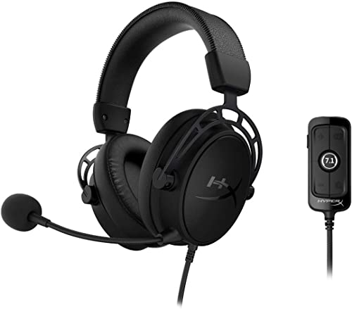 HyperX Cloud Alpha S - PC Gaming Headset, 7.1 Surround Sound, Adjustable Bass, Dual Chamber Drivers, Breathable Leath...