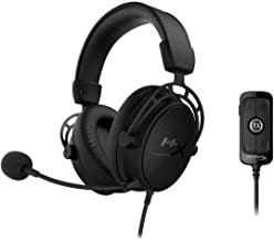 HyperX Cloud Alpha S Blackout - PC Gaming Headset, 7.1 Surround Sound, Adjustable Bass, Dual Chamber Drivers, Chat Mixer, ...