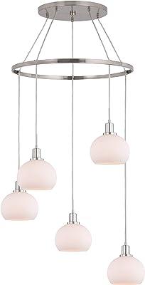 Woodbridge Lighting 17828STNLE-C00801 Chandelier, Satin Nickel