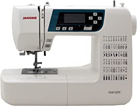 Janome 3160QDC Computerized Sewing Machine w/Hard Cover + Extension Table + Quilt Kit + 1/4 Seam Foot w/Guide + Overedge Foot + Zig Zag Foot + Zipper Foot + Buttonhole Foot + Needles + More!
