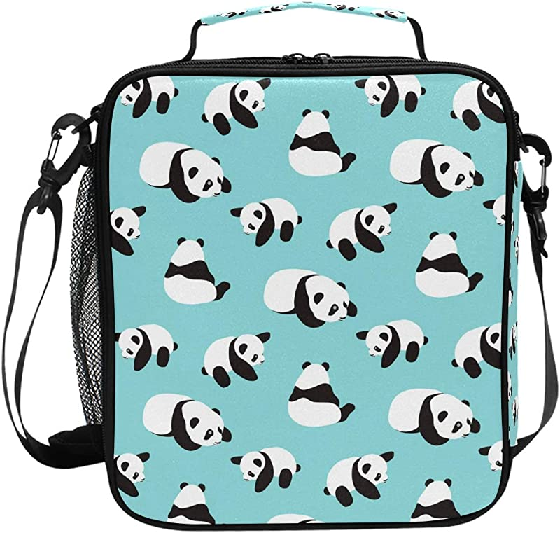 My Little Nest Insulated Cooler Square Tote Lunch Bag Panda Thermal Work Picnic Food Organizer Lunchbox For Women Men Kids