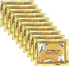 Permotary 30 Pairs Crystal Collagen Under Eye Mask, Gold Gel Collagen Eye Pad For Moisturizing, Reducing Dark Circles & Pu...