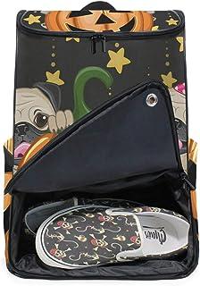DEZIRO - Mochila para ordenador portátil de Halloween con calabaza de viaje, bolsa de computadora para mujeres y hombres universitarios, mochila de negocios