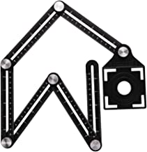 Six-Sided Alloy Angle Measuring Tool, Aluminum Angle Ruler Template Tool Full Metal Measuring Rules Layout Tool for Crafts...