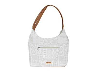 Sakroots Hermosa Hobo (White Tribal Brave Beauti) Handbags