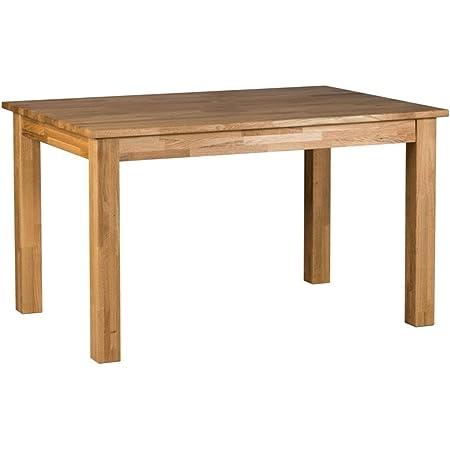 Amazon Brand Lukas Table Chêne sauvage huilé naturel 130 x 90 x 75 cm