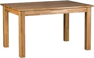 Marque Amazon -Alkove Hayes - Table de salle à manger fixe au style classique, 130x90x75cm, Chêne sauvage