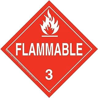 Class 3 Flammable Liquid Placard, Worded 25-pk. - 10.75
