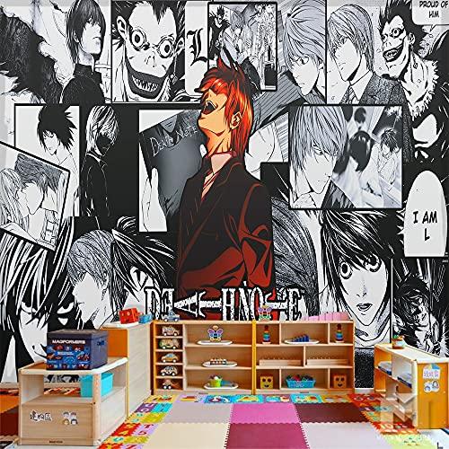 LUKIFU Death Note Mural Fond D'Écran Papier Peint Personnalisé Mural Tv Canapé Fond Murs 3D Papier Peint-210x140cm